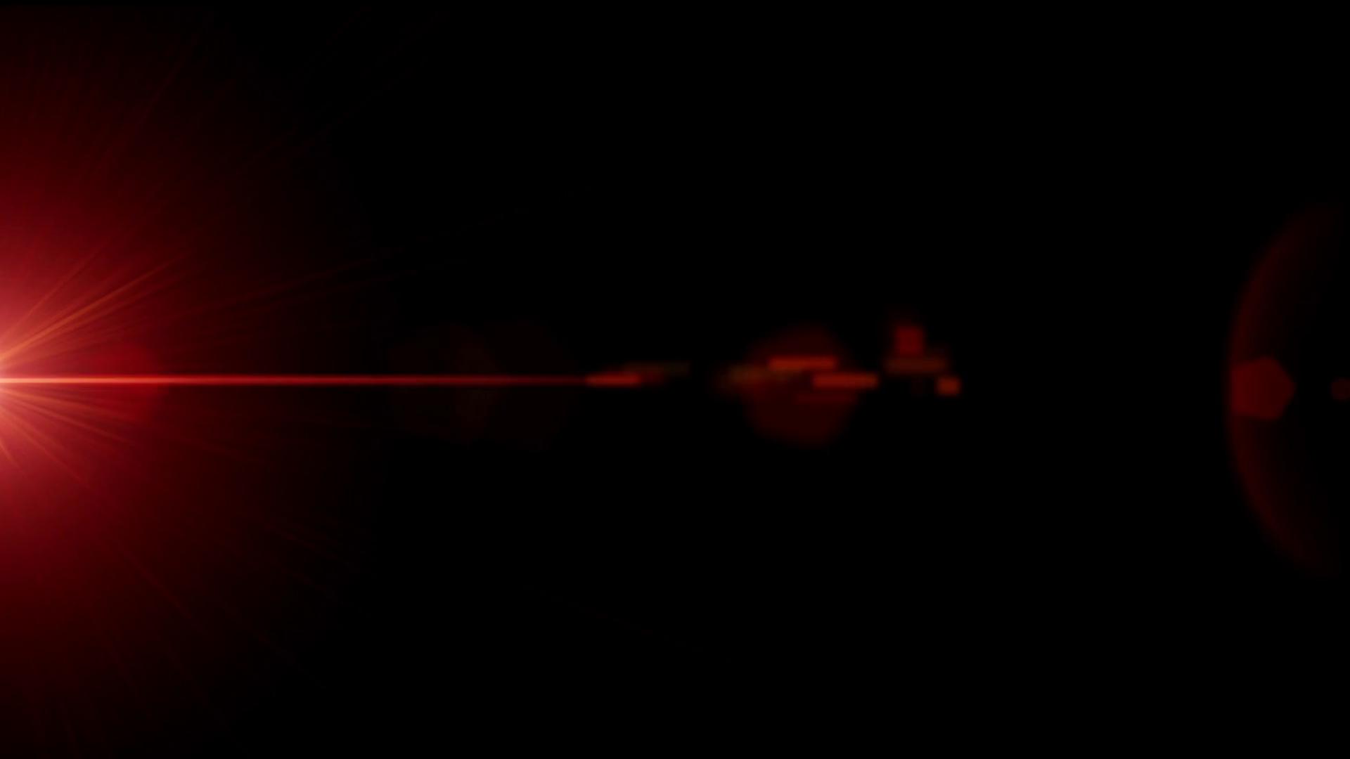 Red laser light on black background Motion Background.