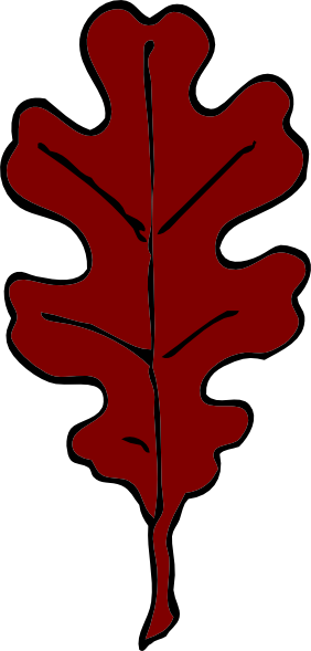 Red Oak Leaf Clip Art at Clker.com.