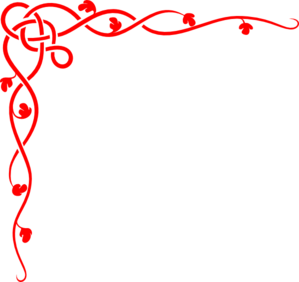 Christmas red line clipart.