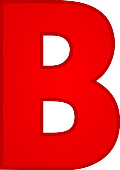 Red Letter B Clipart.