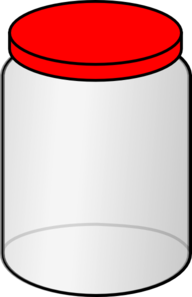 Jar With Red Lid Clip Art at Clker.com.