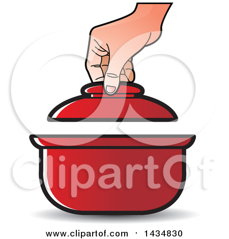 Clipart Red Frying Pan.