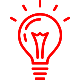 Red light bulb 2 icon.