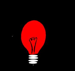 Red Light Bulb Clip Art at Clker.