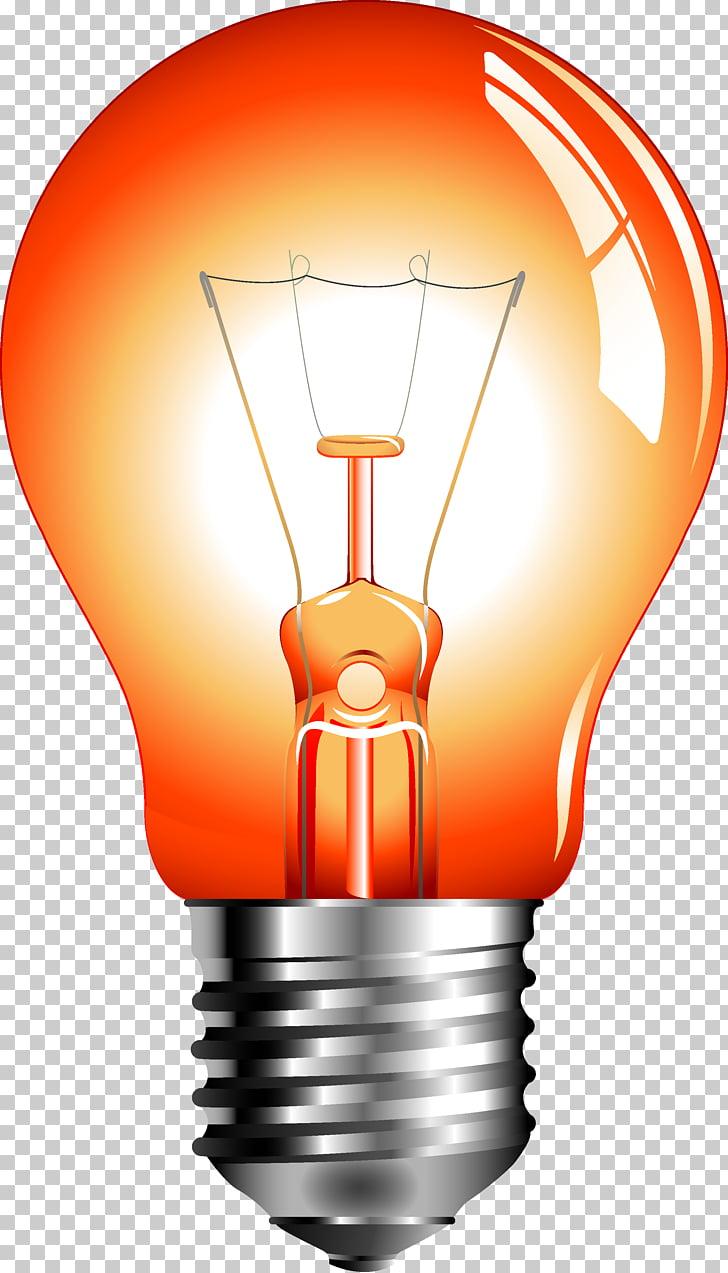 Incandescent light bulb Euclidean , Red light bulb PNG.