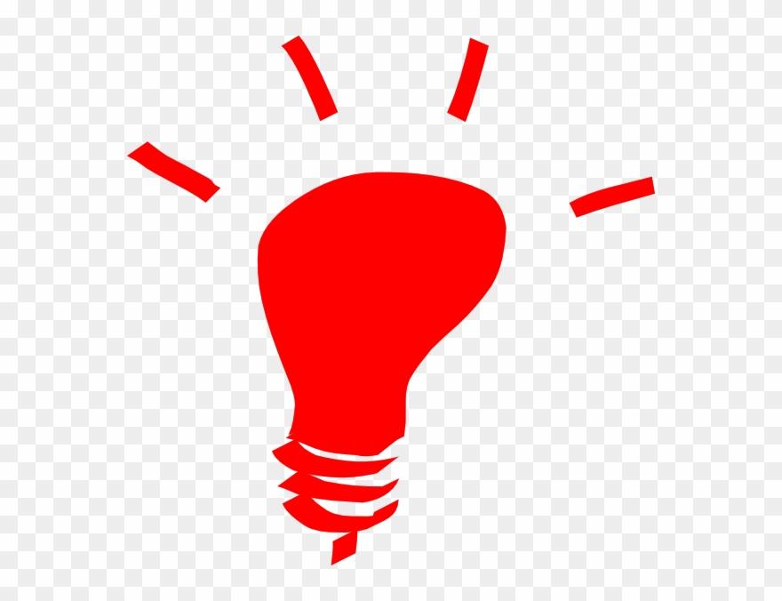 Red Light Bulb Cartoon Clipart (#122307).