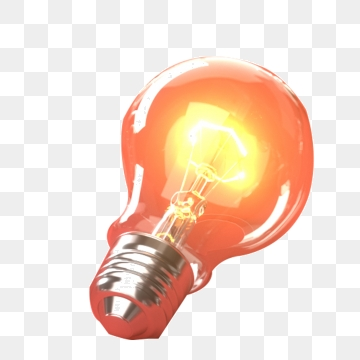 Red Light Bulb PNG Images.