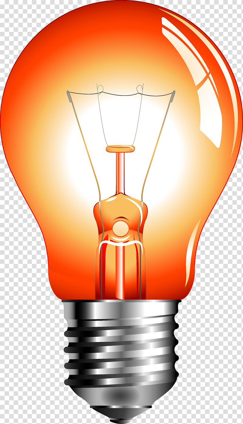 Incandescent light bulb Euclidean , Red light bulb.