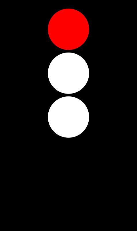 Free Clipart: Traffic semaphore red light.