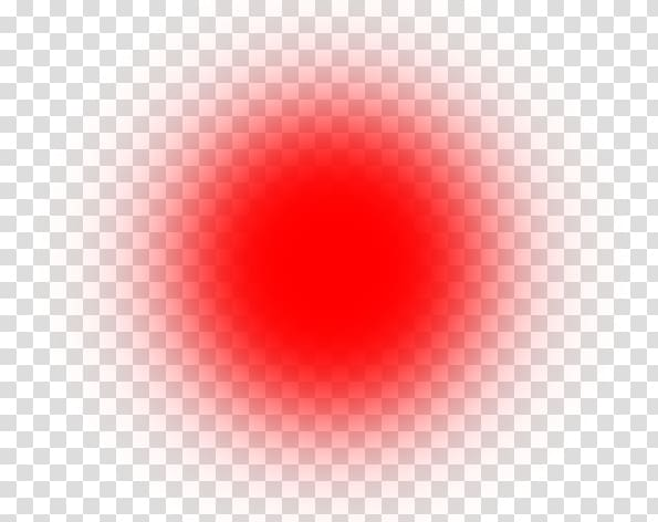 Red Circle Computer , Light Effect Background transparent.