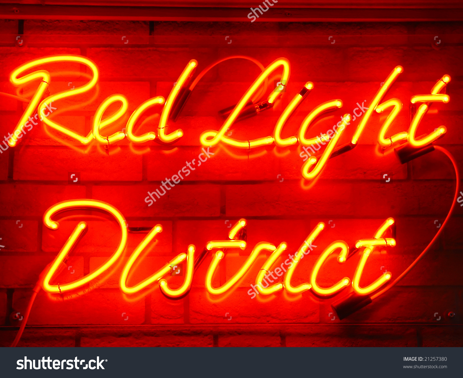 Red light district clipart.
