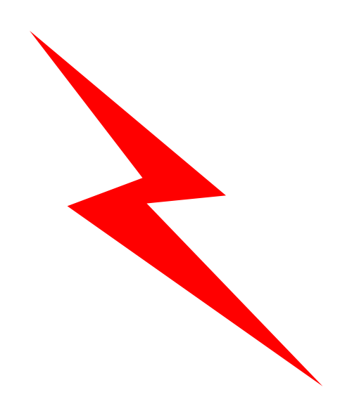 Red Lightening Bolt Clip Art at Clker.com.