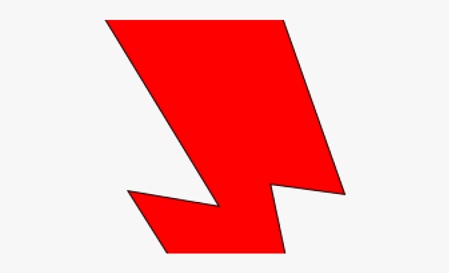 Electrical Clipart Red Lightning Bolt #335266.