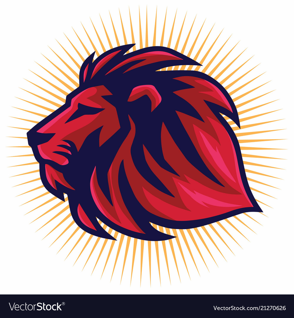 Red lion logo template.