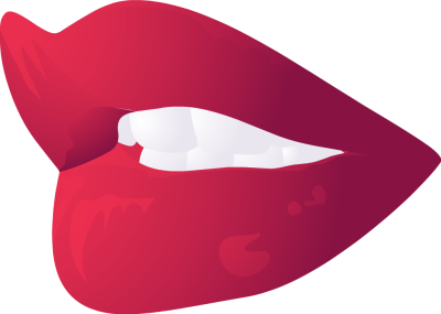 Open red lips clipart.