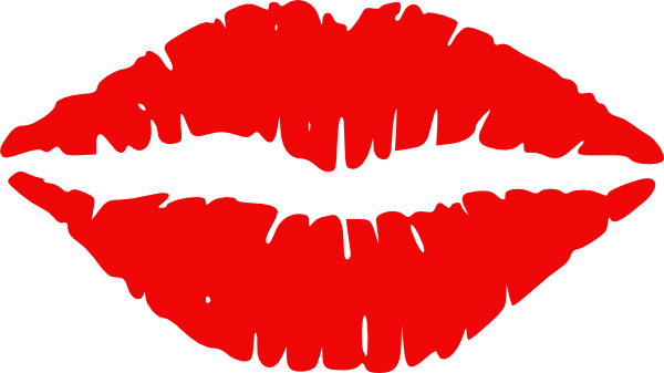 Red lips clip art.