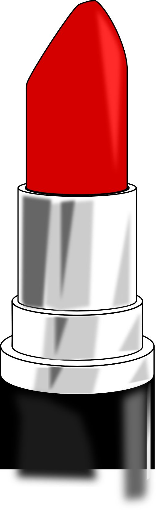 Red lipstick clipart.