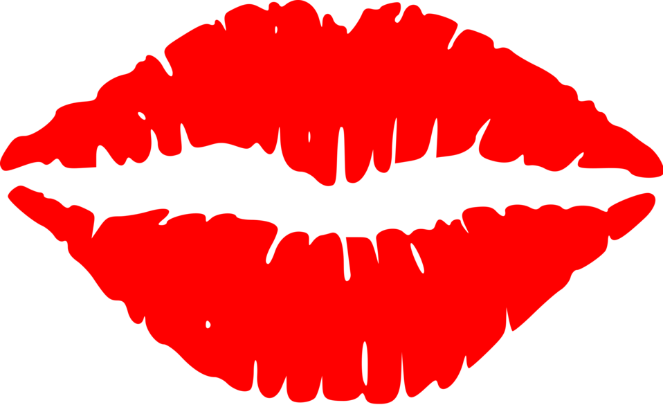 Lips With Red Lipstick Clipart.