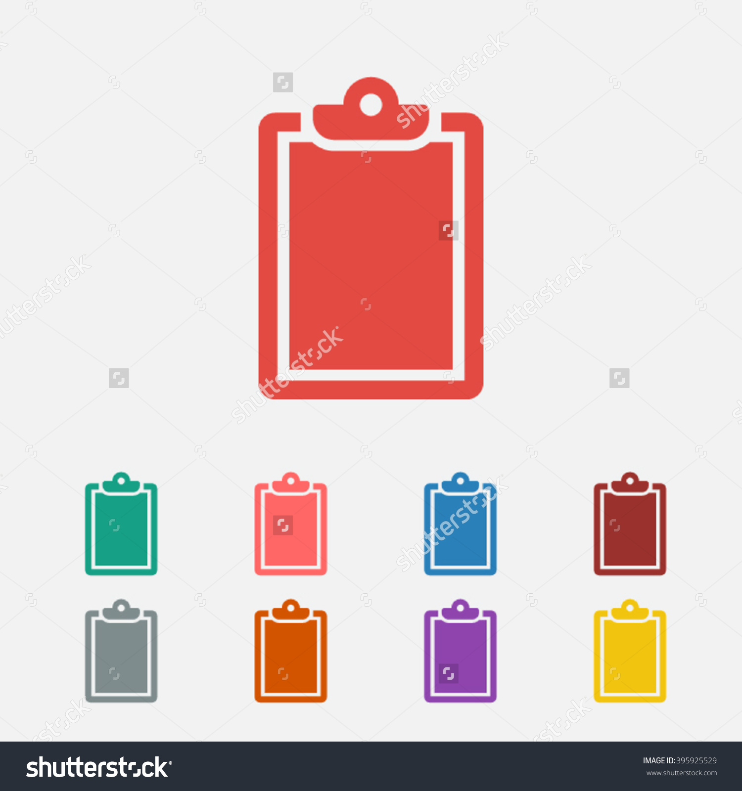 Set Of: Red List Vector Icon, Green List Icon, Pink List Icon.