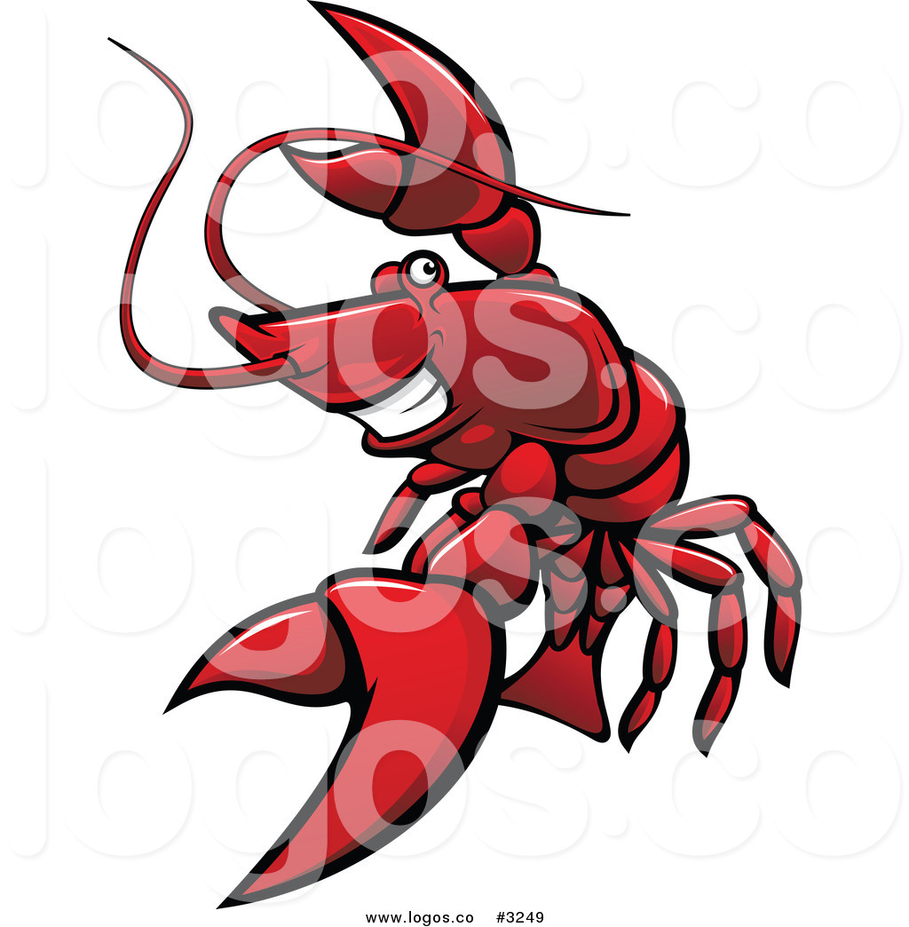 Royalty Free Vector of a Red Lobster Logo by Vector.