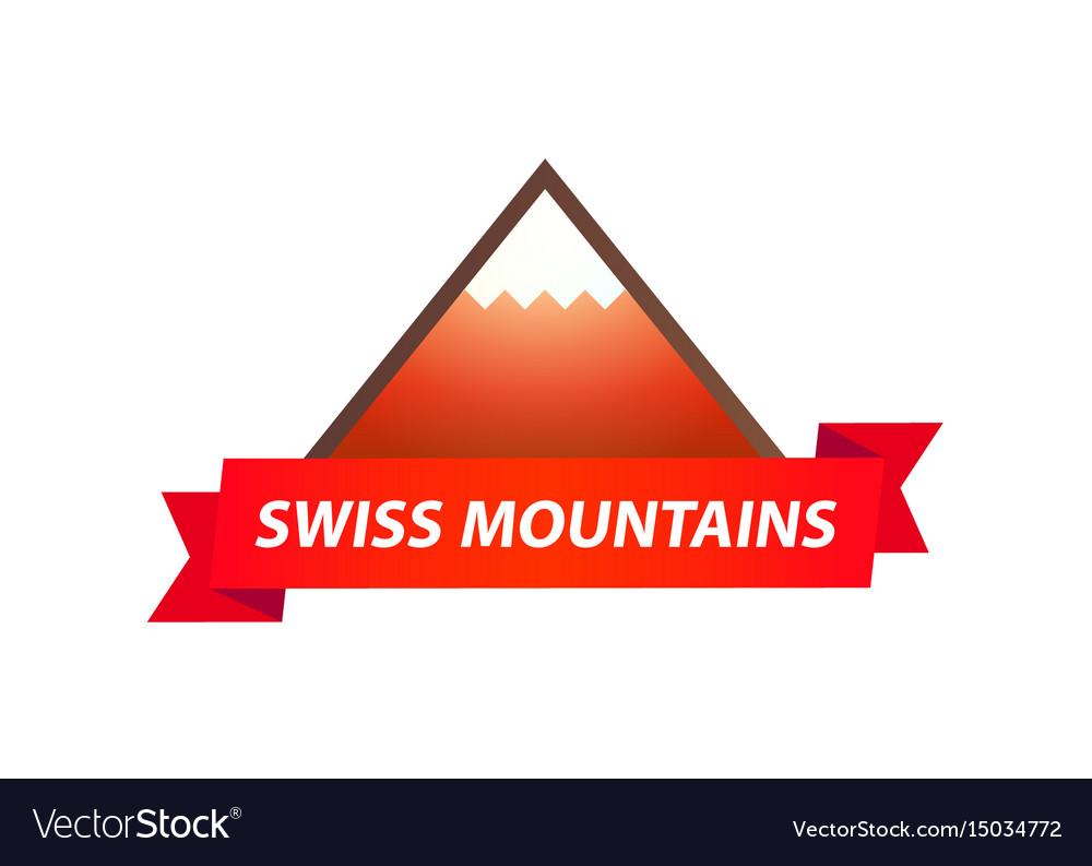 Logo of swiss mountains.