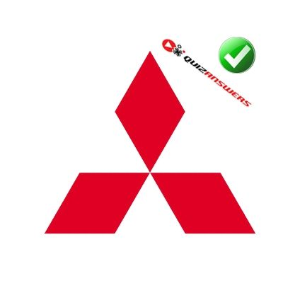 Red with White Triangles Logo.