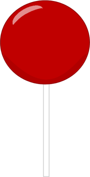 Red Lollipop Clipart.