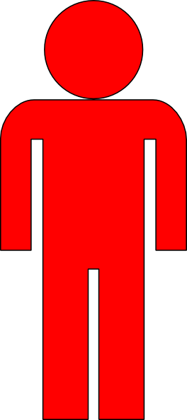 Man Clipart Red.