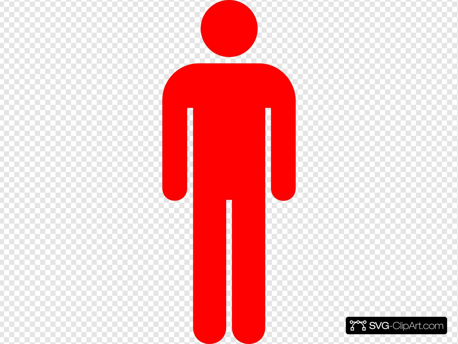 Red Man Clip art, Icon and SVG.