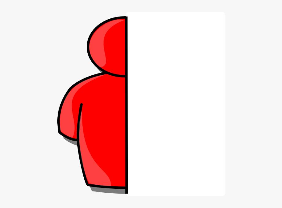 Half Red Man Clip Art.