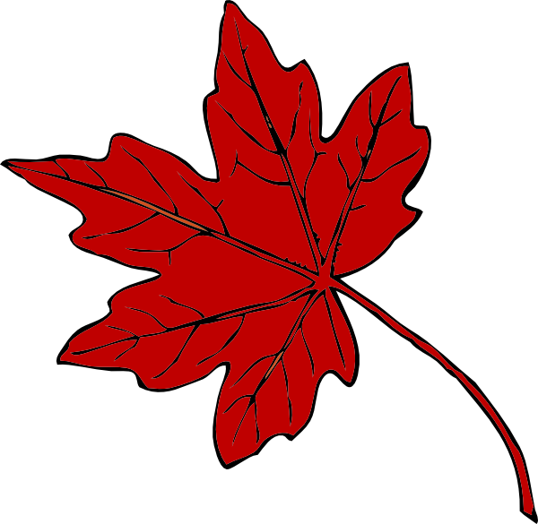 Red Maple Leaf Clip Art at Clker.com.