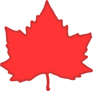 Red maple leaf vector clip art.