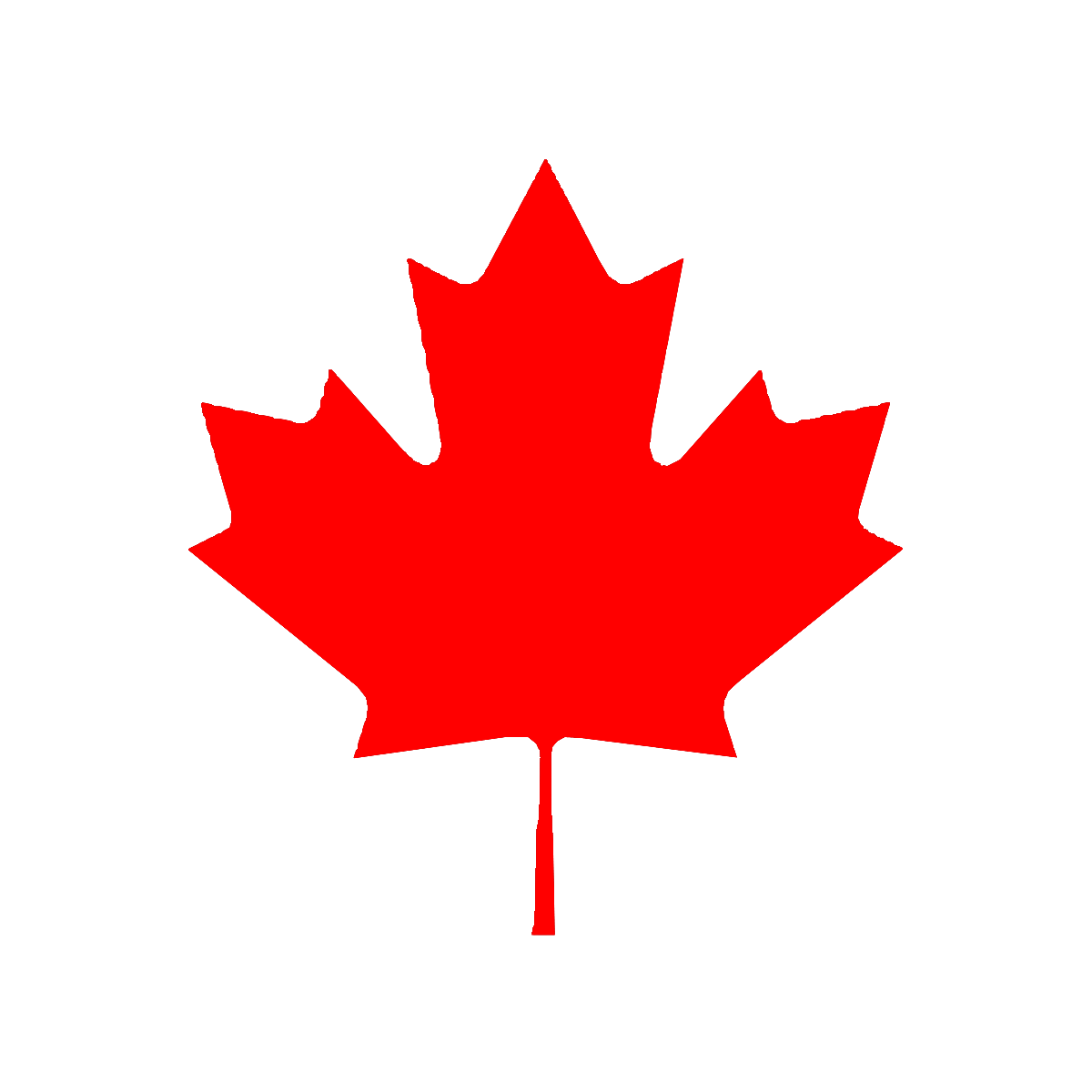 Red Maple Clipart Transparent Background.
