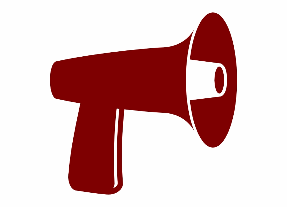 Free Red Megaphone Clipart Image.