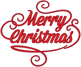 merry christmas red png.