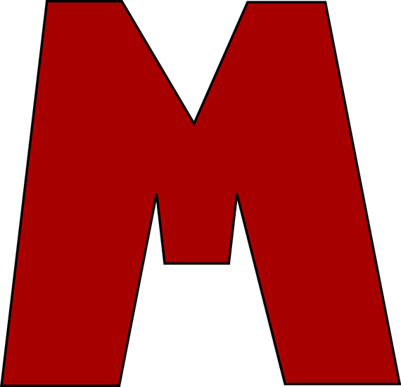 Letter Mm Clip Art.