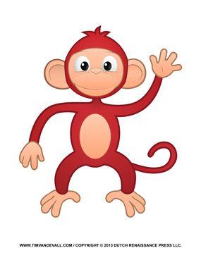 Funny Monkey Clipart.
