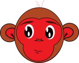 Red Monkey Clipart.