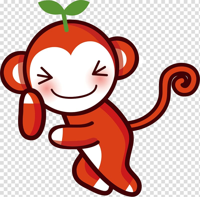 Monkey , Small red monkey transparent background PNG clipart.