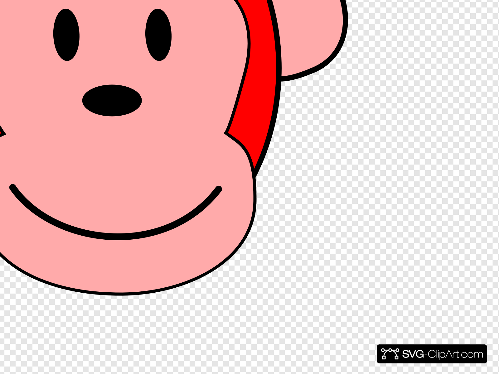 Red Monkey Clip art, Icon and SVG.