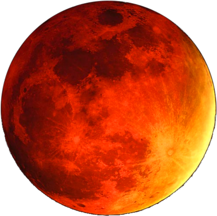 HD #ftestickers #moon #luminous #glowing #orange.
