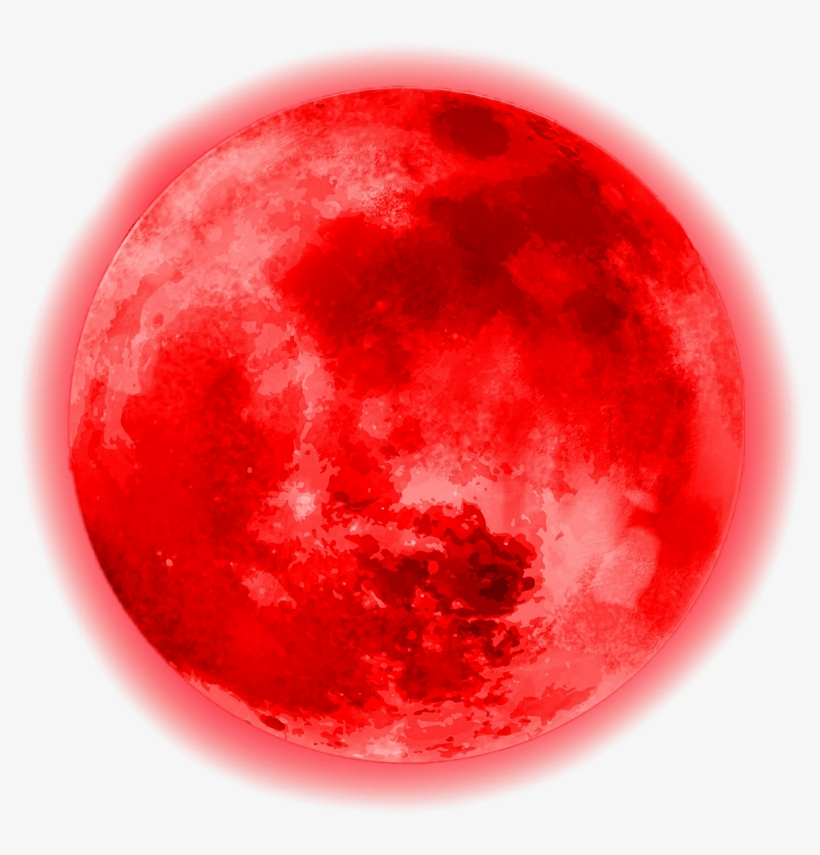 Circle Red Moon Glowing Glowingmoon Cute Aesthetic.