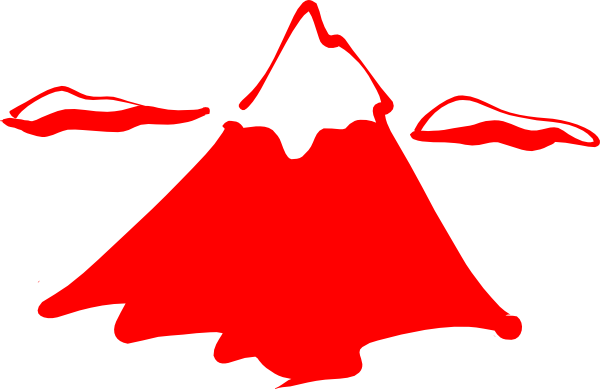 Mountain In Red. Clip Art at Clker.com.