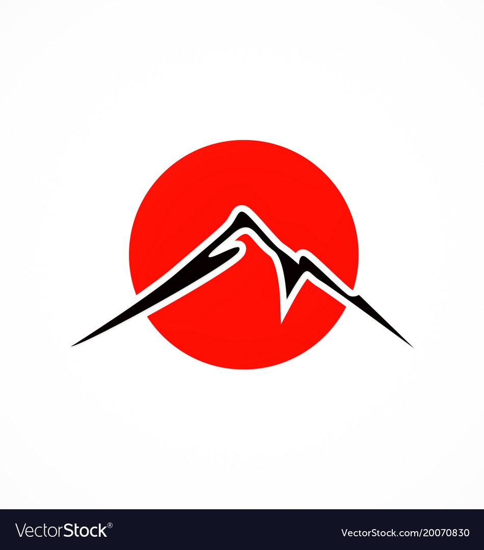Japan mountain fuji abstract logo.