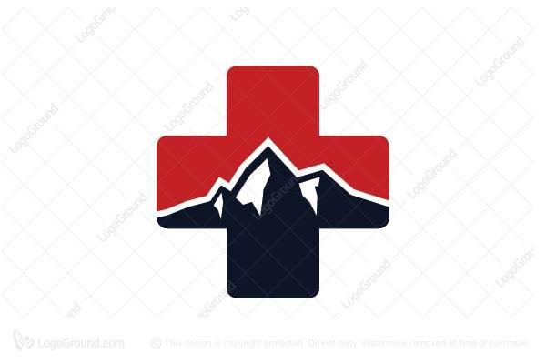 Exclusive Logo 28464, Red Cross Mountain Logo.
