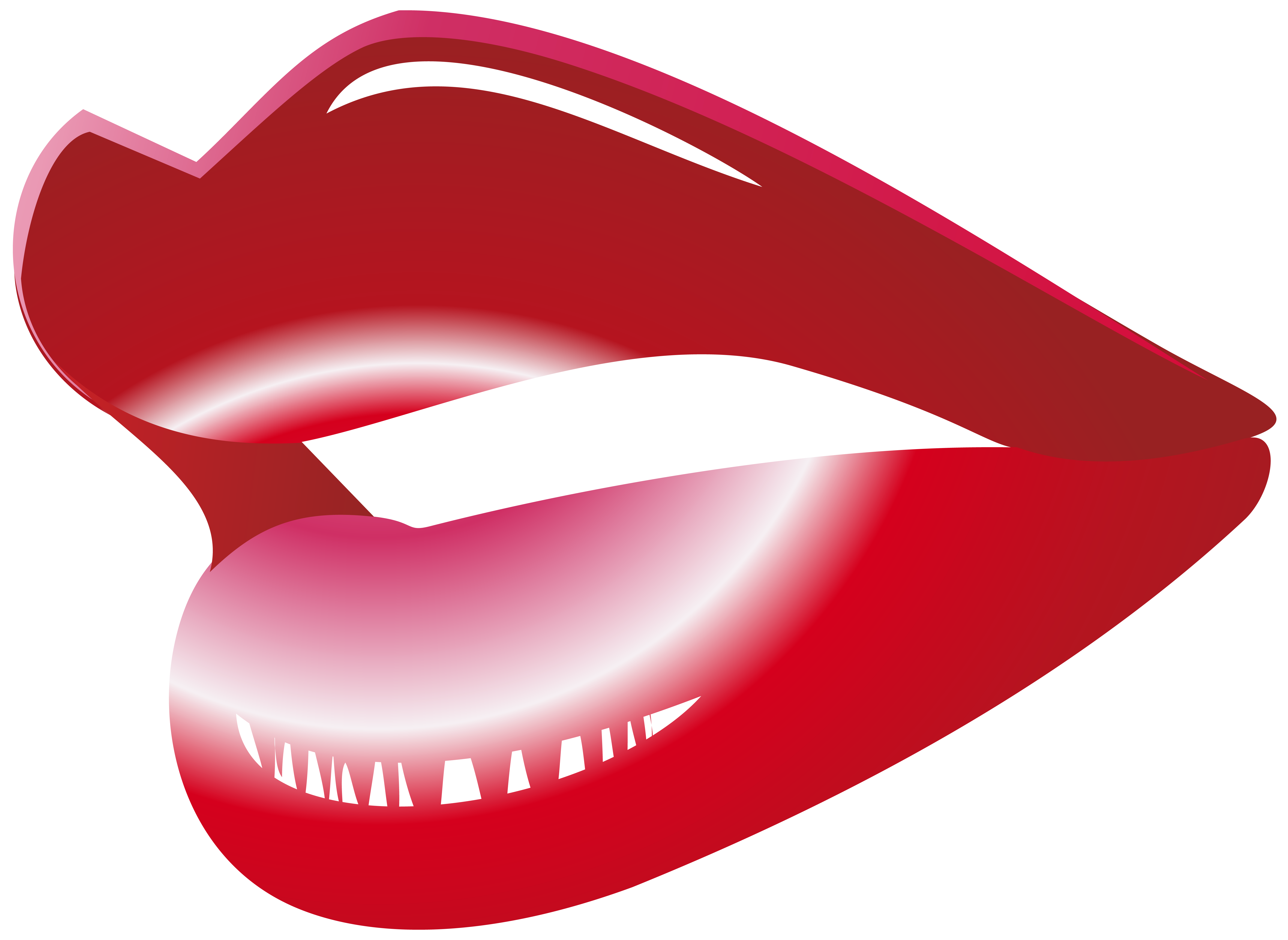 Red Mouth PNG Clip Art.