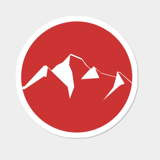 Red Mountain Logo Insignia Sticker By Pholange Design By Humans.