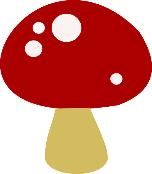 Free Red Mushrooms Clipart.