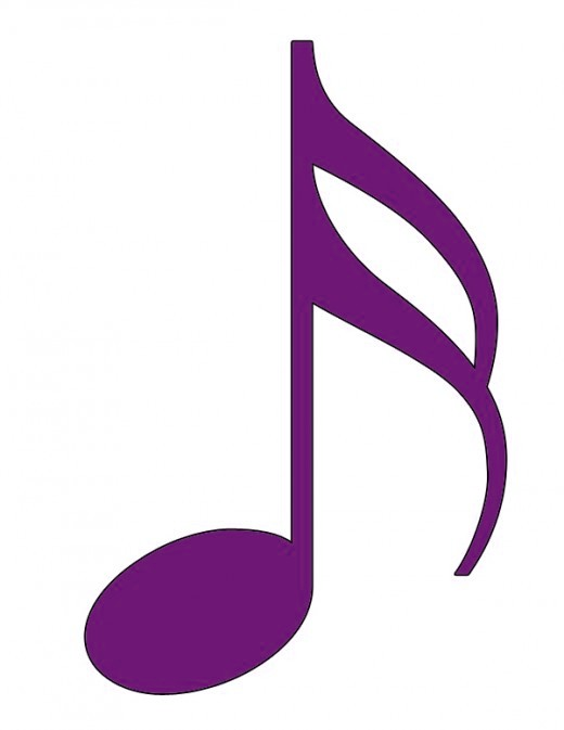 Red Music Notes Clip Art N16 free image.