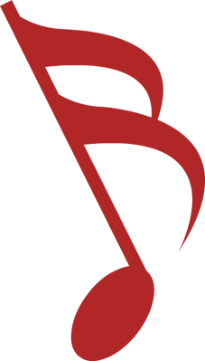 RED MUSICAL NOTES.